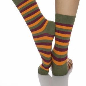 Kadın Haki Çemberli Çorap WSC0610
