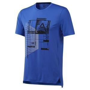 Wor Recy Graph Tech Erkek Mavi Antrenman Tişört DP6151