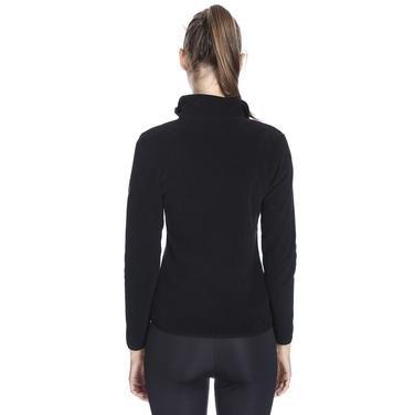 Kadın Siyah Polar Sweatshirt 710081-00B 962436