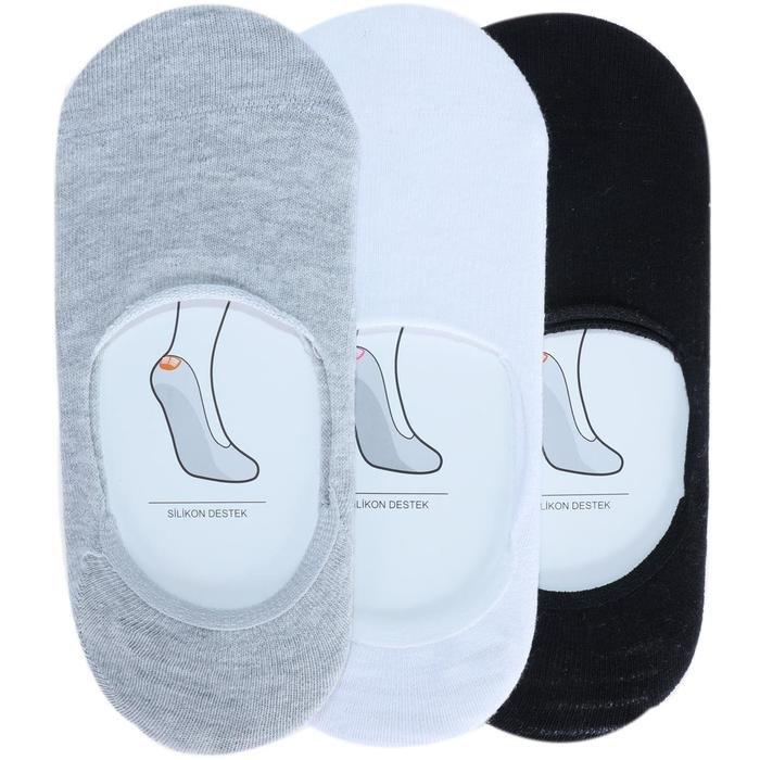 Kadın Çok Renkli 3'lü Babet Çorap SPTSC001-N-SBG 978120