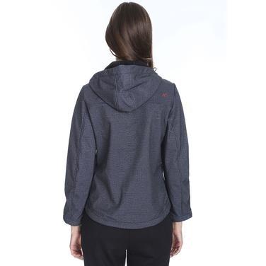 Kadın Siyah Kapüşonlu Outdoor Mont M100058-SYH 1127794