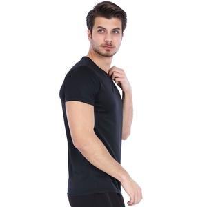 Polvebasic Erkek Siyah Günlük Stil Tişört 710303-00B