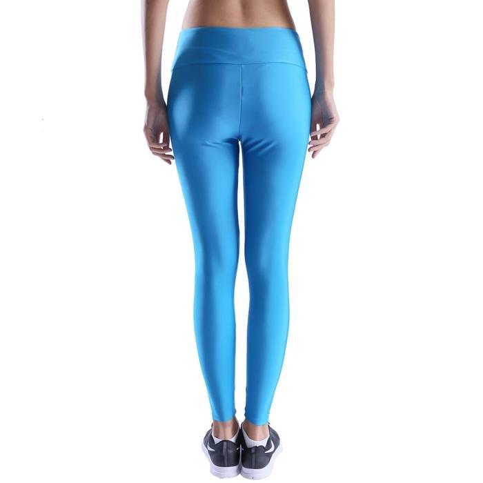 Shinetight Kadın Mavi Parlak Tayt 710475-SKY 1017572