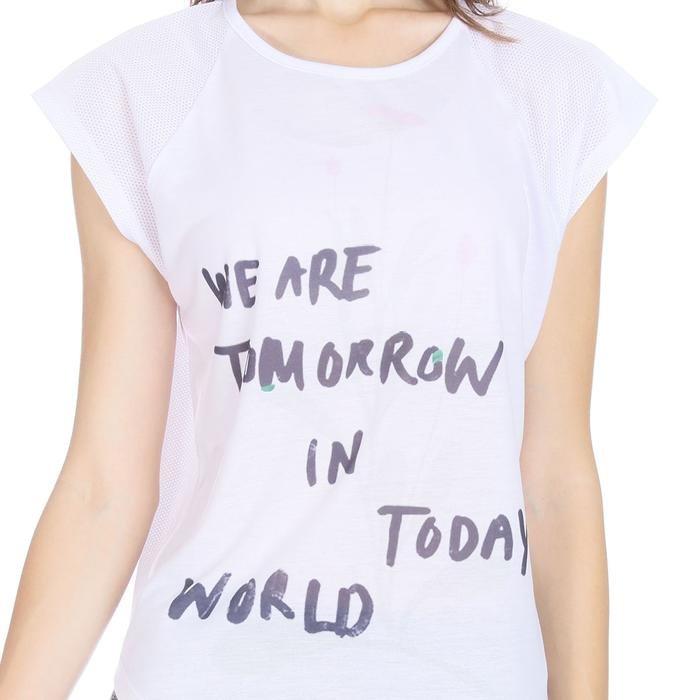Kestoday Kadın Beyaz Günlük Stil Tişört 710608-00W 1089132