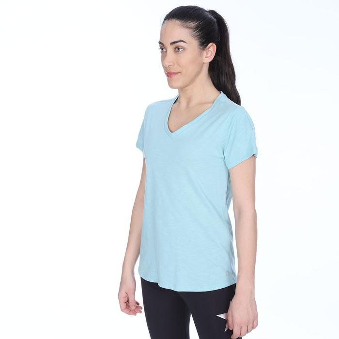 Flakestop Kadın Mavi Koşu Tişört 710180-BRN 1063753