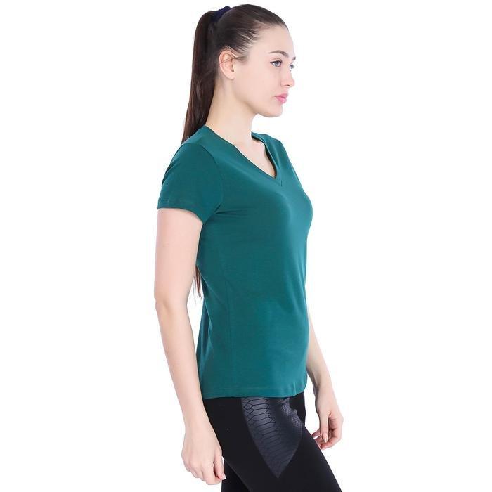 Flakestop Kadın Yeşil Günlük Stil Tişört 710180-VRD 996827