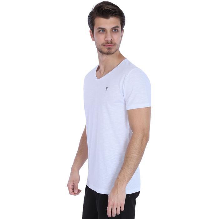 Flavebasic Erkek Beyaz Günlük Stil Tişört 710387-00W 996572