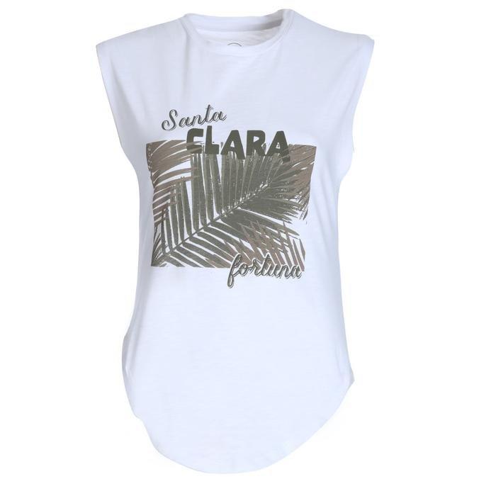 Santa Clara Kadın Beyaz Tişört 711032-BYZ 1137706