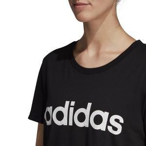 E Lin Slim T Kadın Siyah Günlük Stil Tişört DP2361