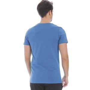 Flavebasic Erkek Mavi Günlük Stil Tişört 710387-PTR