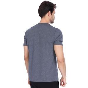 Basic Erkek Gri Günlük Stil Tişört 710200-AML