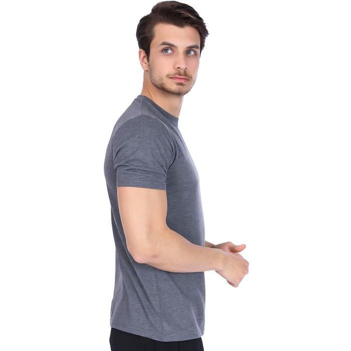 Basic Erkek Gri Günlük Stil Tişört 710200-AML 996697