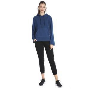 Kadın Mavi Kapüşönlü Sweatshirt 711015-PTR