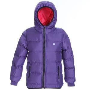 Çocuk Mor Kapüşonlu Outdoor Mont G10006-MOR