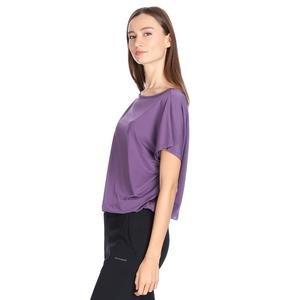 Polcrop Kadın Mor Günlük Stil Tişört 710726-MOR