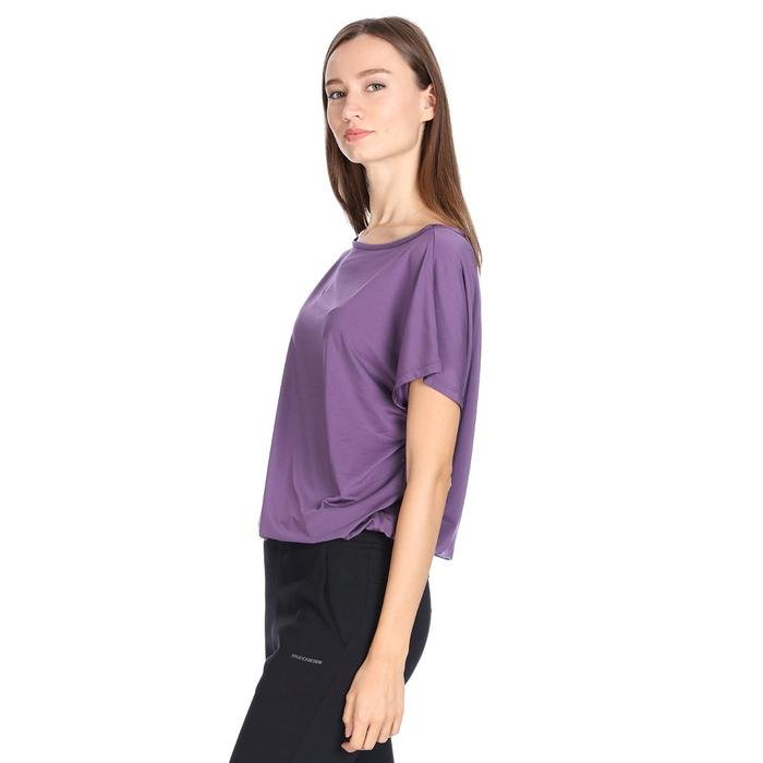 Polcrop Kadın Mor Günlük Stil Tişört 710726-MOR 1127747