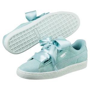 Suede Heart Pebble Kadın Yeşil Günlük Ayakkabı 36521003