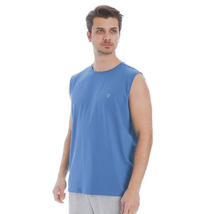 Erkek Mavi Antrenman Atlet 711005-PTR 1137407