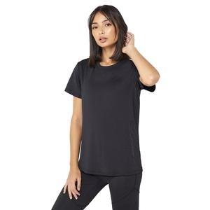 Designed 2 Move Kadın Siyah Antrenman Tişörtü FL9216