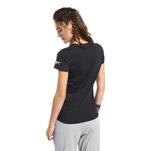 Logo Tee Kadın Siyah Koşu Tişörtü FQ6641
