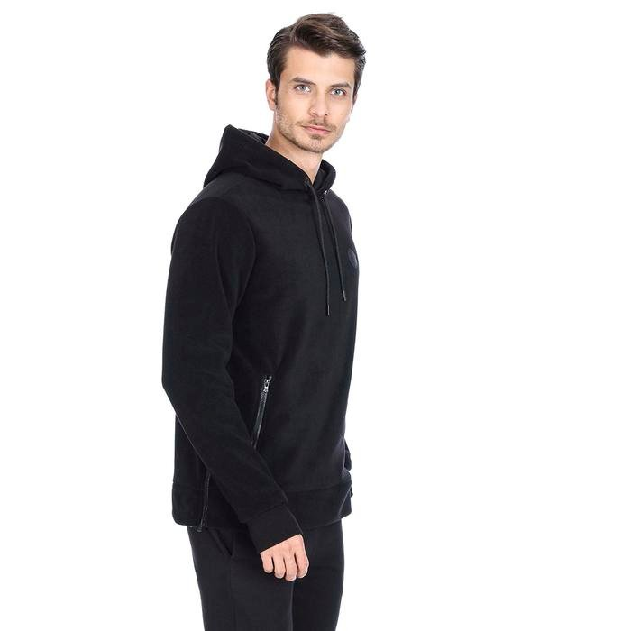 Mounfersweat Erkek Siyah Polar Sweatshirt M100039-SYH 1127770