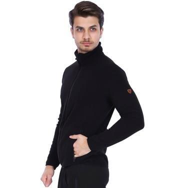 Erkek Siyah Polar Sweatshirt 710079-00B 962228