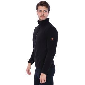 Erkek Siyah Polar Sweatshirt 710078-00B