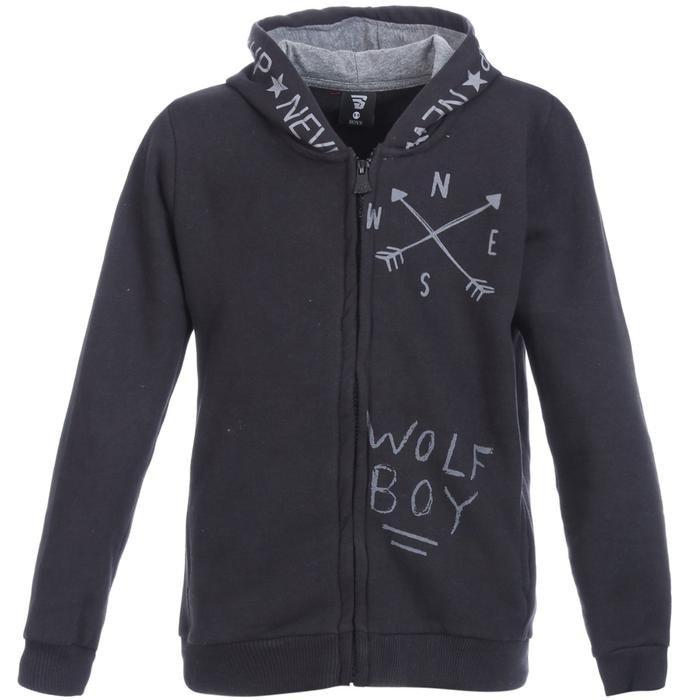 Boyzipone Çocuk Siyah Günlük Stil Sweatshirt B10000-SYH 1127727