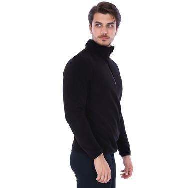 Erkek Siyah Polar Sweatshirt 710078-00B 962187