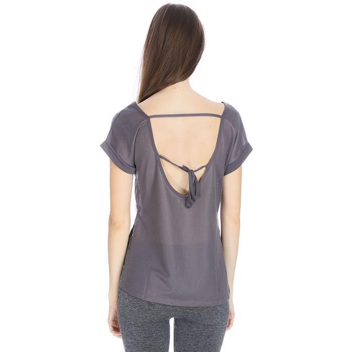 Keslook Kadın Gri Koşu Tişört 710605-ANT 1063786