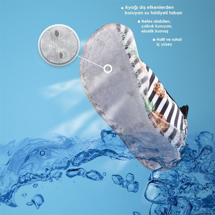 Aqua Çocuk Çok Renkli Yüzme Terlik NAQ2010-SS19-summer 1132611