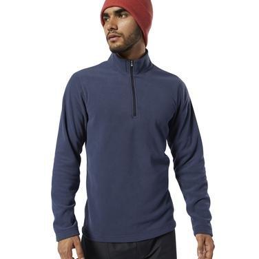 Od Flc Q Zip Erkek Mavi Polar Sweatshirt EB6723 1146514