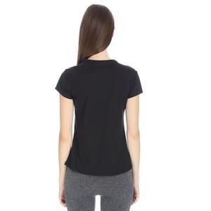 Polbaswom Kadın Siyah Koşu Tişört M10009-BLK