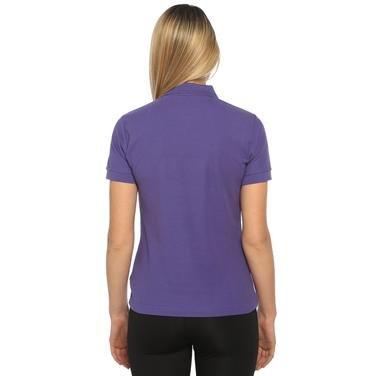 Basic Kadın Mor Günlük Stil Polo Tişört 100836-LIL 500955