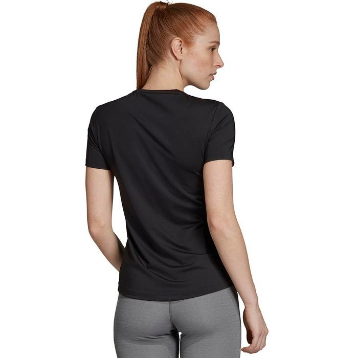W D2M Solid Tee Kadın Siyah Antrenman Tişört EI5512 1148459