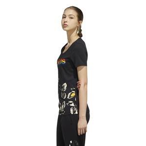 Farm P Tshirt Kadın Siyah Günlük Stil Tişört EI4829