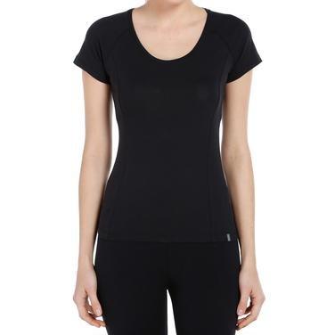 Supnecku Kadın Siyah Günlük Stil Tişört 400210-00B 714111