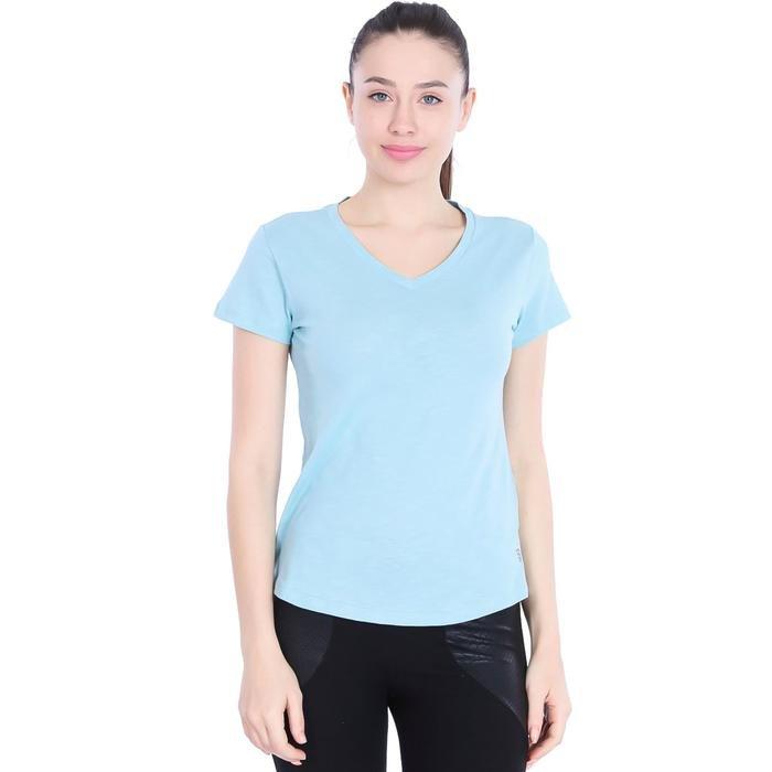 Flakestop Kadın Mavi Günlük Stil Tişört 710180-0VR 996822