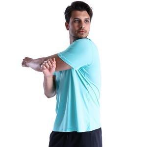 Basic Erkek Mavi Günlük Stil Tişört 710200-0MN