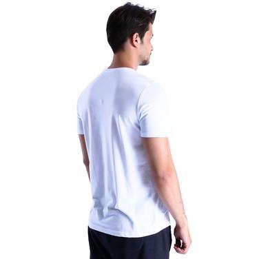 Basic Erkek Beyaz Günlük Stil Tişört 710200-00W 996643