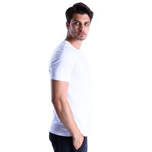 Basic Erkek Beyaz Günlük Stil Tişört 710200-00W