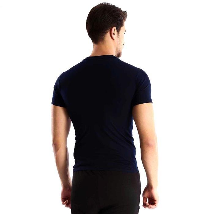 Basic Erkek Lacivert Günlük Stil Tişört 060020021LC1 105856