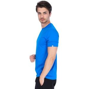 Basic Erkek Mavi Günlük Stil Tişört 710200-0SX