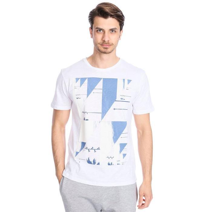 Flageo Erkek Beyaz Koşu Tişört 710514-00W 1063485