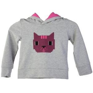 Girlcat Çocuk Gri Günlük Stil Sweatshirt 210430-0GM