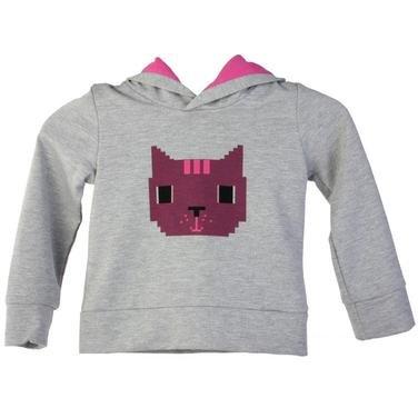 Girlcat Çocuk Gri Günlük Stil Sweatshirt 210430-0GM 619471