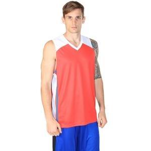Bronco Erkek Kırmızı V Yaka Basketbol Forması 201422-KBX