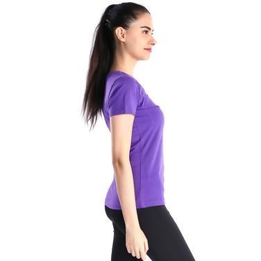 Supkestop Kadın Mor Günlük Stil Tişört 400214-PRP 714313