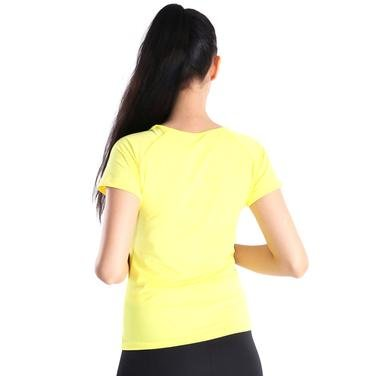 Polnecku Kadın Sarı Günlük Stil Tişört 400215-SUN 714354