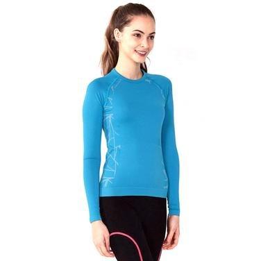 Kadın Mavi Günlük Stil Uzun Kollu Tişört SPYDER021-0MG 321688